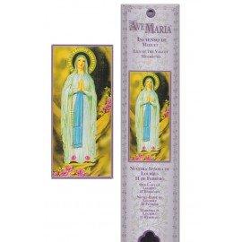 Pochette encens - Vierge de Lourdes - 15 pces