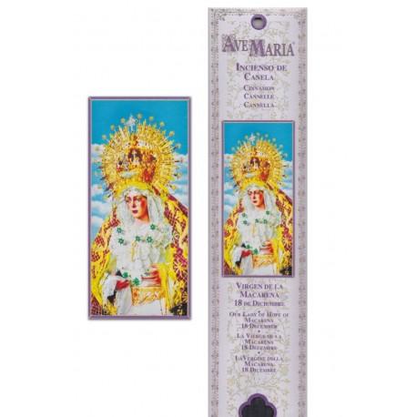"""Pochette encens """"Vierge de la Macarena"""" - 15 pces - 60gr"""