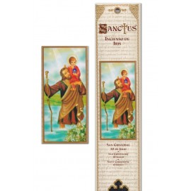 Incense pouch - Saint Christopher - 15 pieces