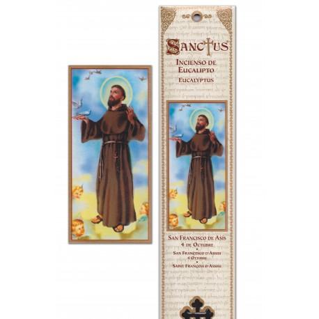 """Pochette encens """"Saint François d'Assise"""" - 15 pces - 60gr"""
