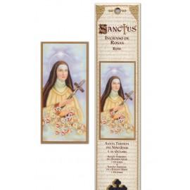 Pochette encens - Sainte Thérèse - 15 pces
