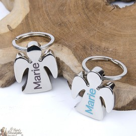 Porte-clés Ange avec prénom personnalisable