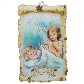 Protective angel wall plaque - customizable first name