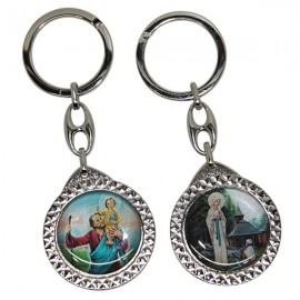 Saint Christopher key ring and appearance of Banneux