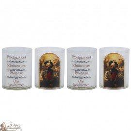 Bougies Veilleuses à Marie qui défait les Noeuds - 4 pièces