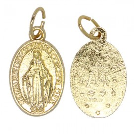 Miraculous Virgin Medal gilded metal