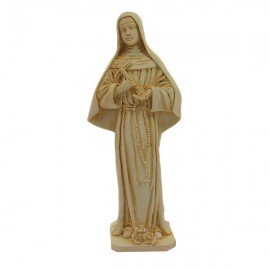 Estatua de mármol en polvo de Santa Rita - Color bronce
