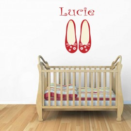 Stickers ballerine chaussons - personnalisable
