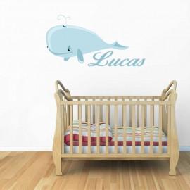 Stickers la petite Baleine - personnalisable