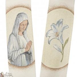 Étole prêtre brodée avec Fatima
