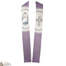 Misericordia embroidered priest stole
