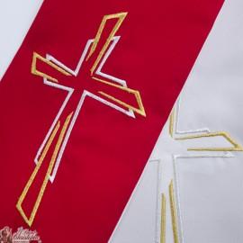 Étole prêtre Bicolore Brodée