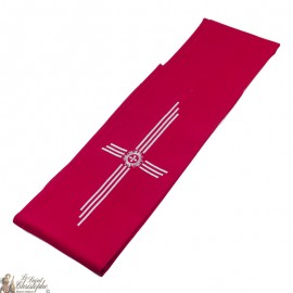 Priest stole embroidered silver cross