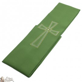 Cross embroidered priest stole