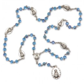 Rosary of 7 pains blue