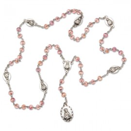 Rosary of 7 pains pink
