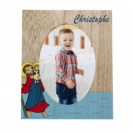 Cadre photo avec votre Saint Patron - personnalisable