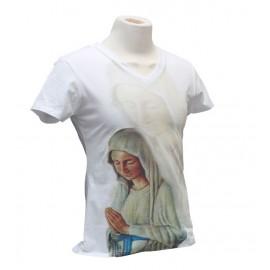 T-shirt de la Vierge de Banneux col V