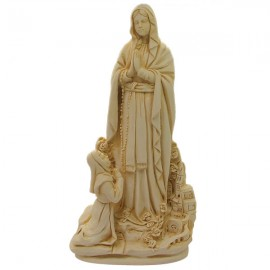 Estatua de mármol en polvo de Santa Rita