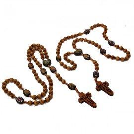 Chapelet en bois olivier Soufanieh et icone