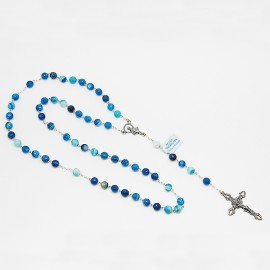 Rosary Agate blue - silver 925