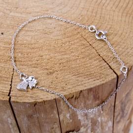 Bracciale angelo cristallo - argento 925