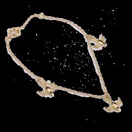 Bracelet colombes plaqué or