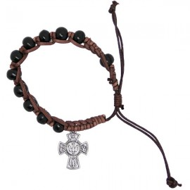 Holzarmband mit Kreuzen Heiligenschützer schwindelerregend