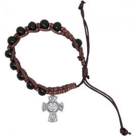Pulsera de madera con cruces protectores de santos dizainier