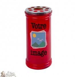 Bougie rouge votive personnalisable