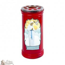 Bougie rouge votive Banneux N.D