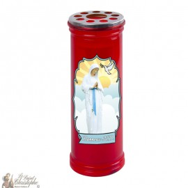 Votive red candle Banneux N.D