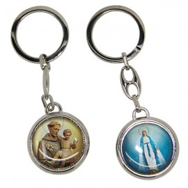 Keychain Saint Anthony and the Miraculous Virgin