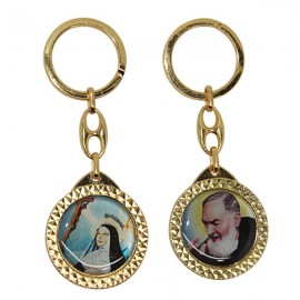 Holy Rita key ring with Padre Pio