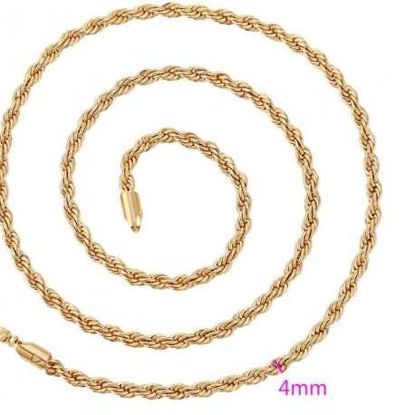 Gold plated chain 18 k - faschion 60 cm