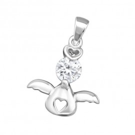 Ciondolo angelo Zircone - argento 925