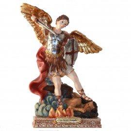 Statue Saint Michel - 11cm