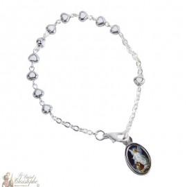 Bracelet dizaine perles en forme de cœurs - personnalisable