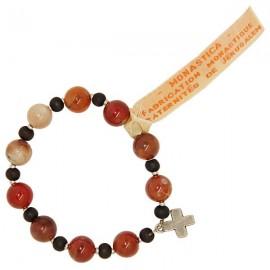 Bracelet dizaine Agate feu pierres de santé