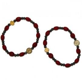 Pulsera diez mariquitas - amuleto de la suerte