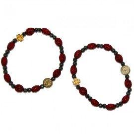 Bracelet dizaine coccinelles - porte bonheur