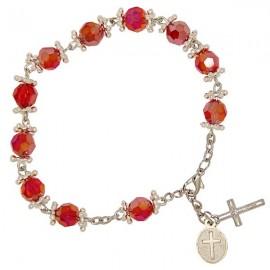 Bracelet dizaine perles strass