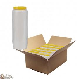 Bougies de neuvaine Blanche - carton 20 pièces