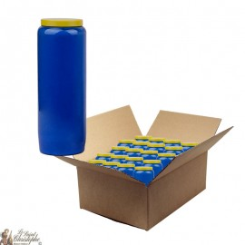 Bougie de neuvaine bleue - carton 20 pièces