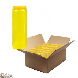 Bougies de neuvaine jaune - carton 20 pièces