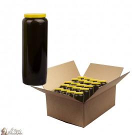 Bougies de neuvaine noir - carton 20 pièces