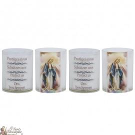 Miraculous Virgin Night Light Candles - 4 pieces