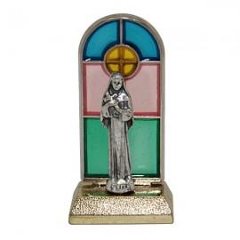 Santa Rita, statua in vetro colorato