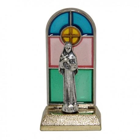 Sainte Rita statue vitrail
