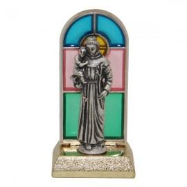 Statua di San Benedetto in vetro colorato